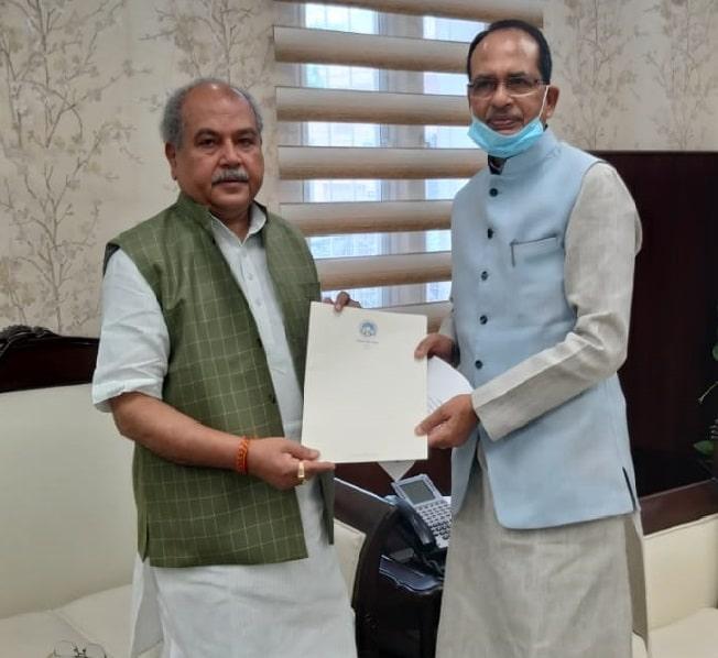 CM शिवराज सिंहचौहान ने की केन्द्रीय मंत्री नरेंद्र सिंहतोमर से मुलाकात,MP के बासमती चावल को जी.आई. टैग दिलाने का अनुरोध