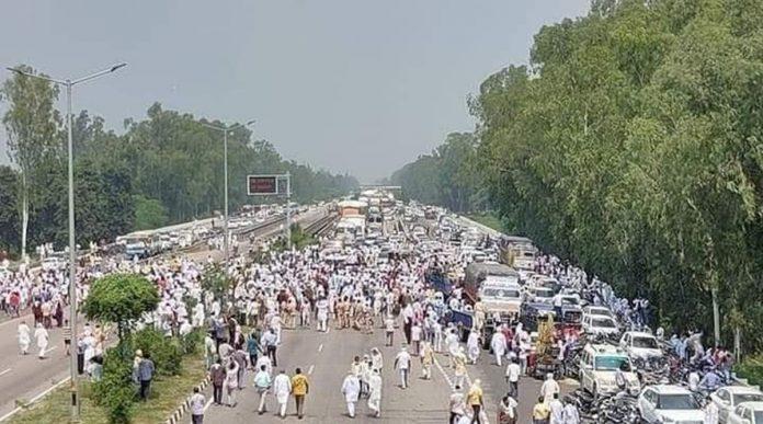 farmers on streets against kisan bill