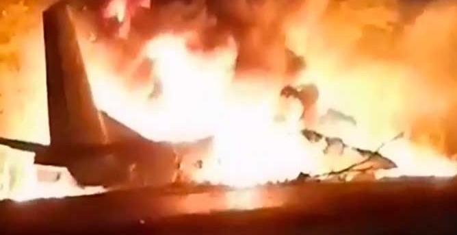 airforce crash in ukraine, 22 people dead