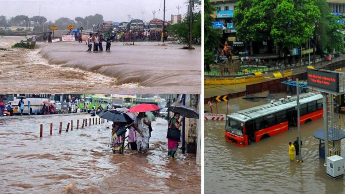 destruction due to heavy rains in karnataka