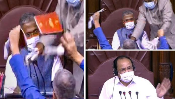 8 mps suspending agitation in rajyasabha