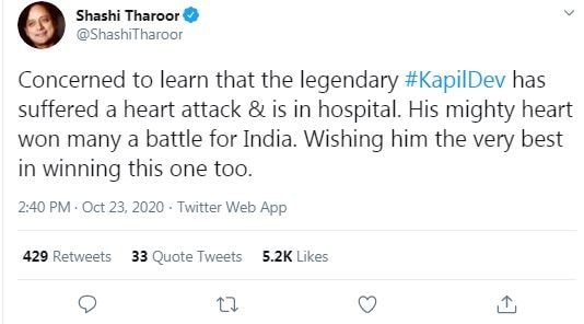 shashi tharur tweet